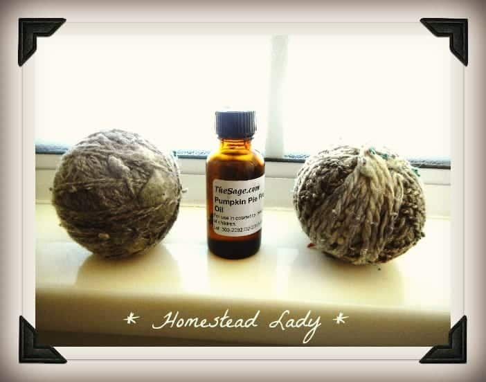 Homemade Dryer Balls with Essential Oil Scent by Homestead Lady