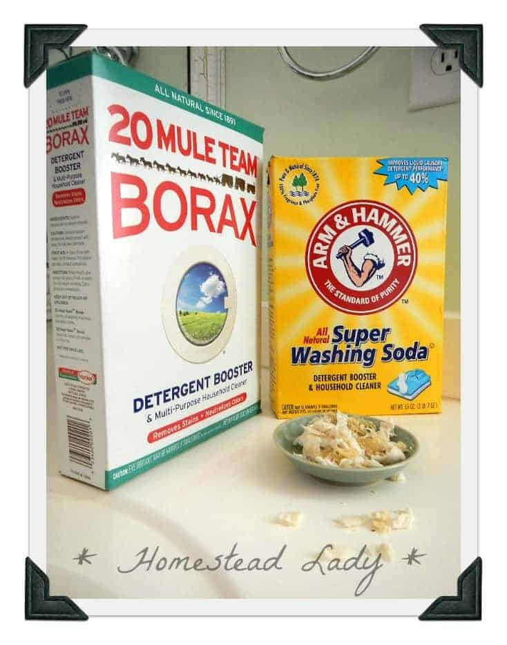 Homemade Laundry Detergent Ingredients by Homestead Lady