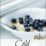 Opeynopes: Cold Oatmeal Cereal