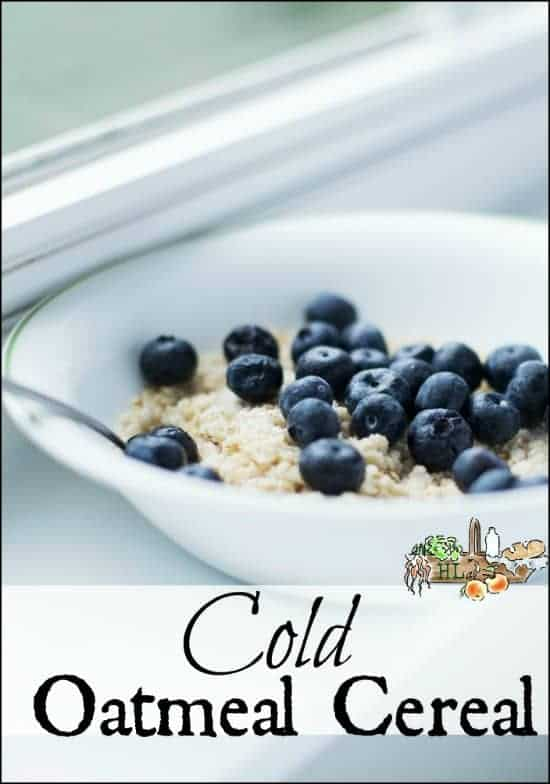 Cold Oatmeal Cereal l Quick, healthy breakfast l Homestead Lady.com