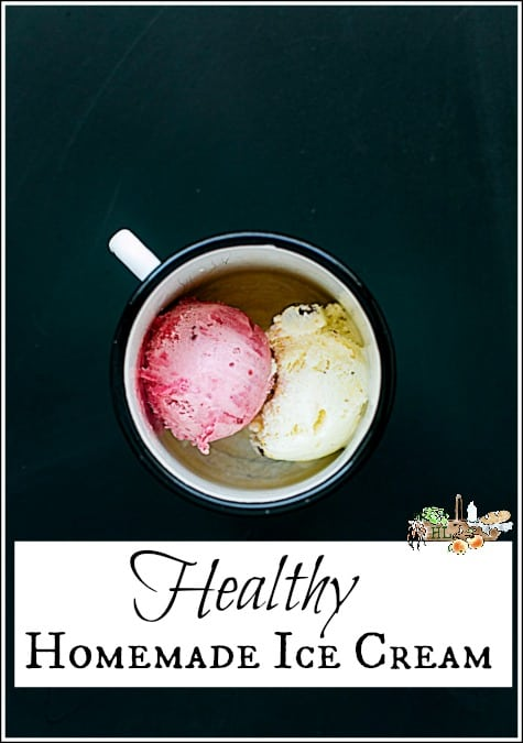 Healthy Homemade Ice Cream l Homemade ice cream tips, troubleshooting and a secret ingredient l Homestead Lady.com