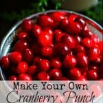 How to Make Cranberry Punch