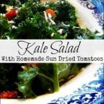 Super Easy Raw Kale Salad For The Holidays