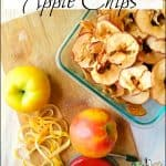 Dried Apple Chips and Light Apple Vinegar