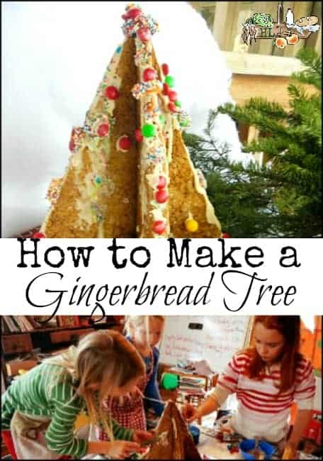 How to Make a Gingerbread Tree l Kid activity for Christmas l Homestead Lady (.com)