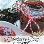 Elderberry Syrup Two Ways
