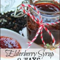 Elderberry Syrup 2 Ways l Use fresh elderberries, fresh ginger, dried spice or essential oils l Healthy Homestead Families l Homestead Lady.com