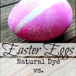 Easter Eggs – Natural Dye vs. Natural Dye