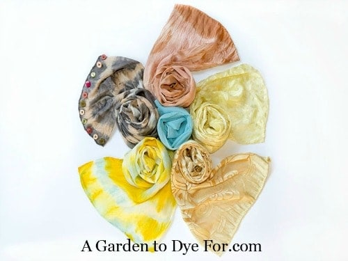 A Garden to Dye For book review by Homestead Lady - naturally dyed scarves and silks