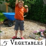 Five Annual Vegetables for the Children's Garden