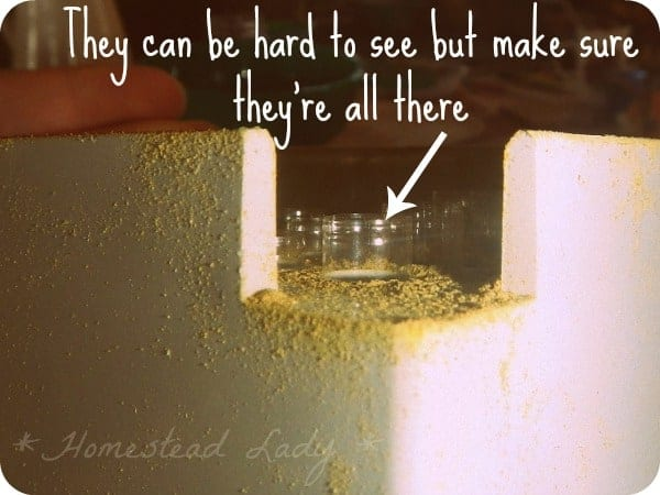 DIY Supplement Capsules - make sure every hole is filed on both top and bototm sections - www.homesteadlady.com