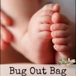 Bug Out Bag List for Babies and Kids