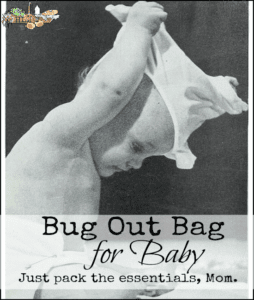 Bug out bag for baby makes THE best baby shower gift! l Make sure the baby you love is prepared l Homestead Lady (.com)
