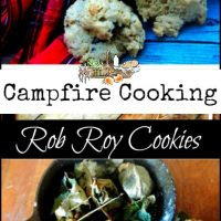 Campfire Cooking l Rob Roy Cookies cooked over open flame l Homestead Lady (.com)