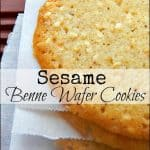 Healthy Snacks: Sesame Wafer Cookies