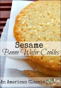 Sesame Benne Wafer Cookies l Healthy snacks are on the way l Homestead Lady (.com)