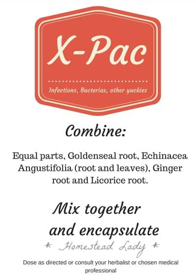 X-Pac Reminder Card l Herbal Recipes for Health l Homestead Lady