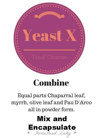Yeast X Reminder Card l Herbal Recipes for Health l Homestead Lady