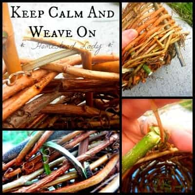 Make Your Own Plant Pots - Spokes and Weavers break but dont panic l Homestead Lady