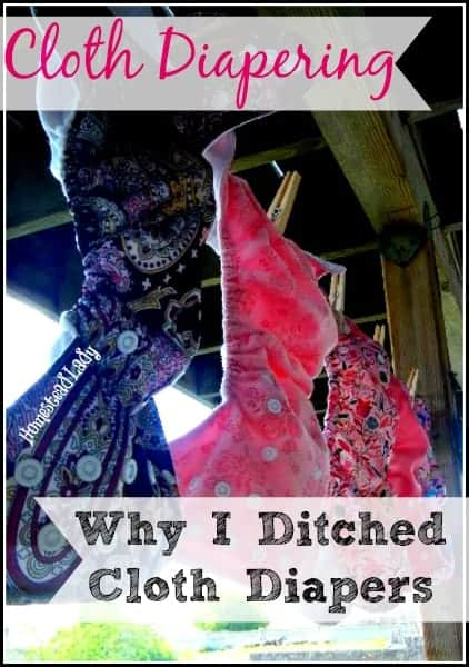 Cloth Diapering l Why I ditched cloth diapers l Homestead Lady