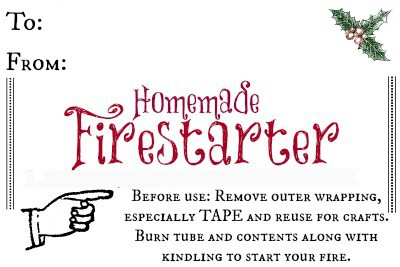 Homemade Firestarter Gift Tag l 4 Last Minute Gifts for Kids to Make l Homestead Lady.com