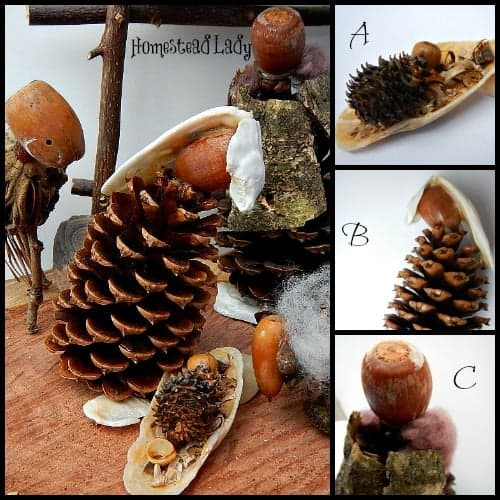 Make Your Own Nativity Sets l Use organic materials to craft a natural nativity l Homestead Lady (.com)