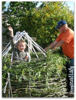 DIY Willow Playhouse l So easy a child can do it l Homestead Lady (.com)