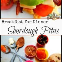 Sourdough Starter Easy Breakfast Pitas l Savory or sweet but always good for you l Homestead Lady (.com)