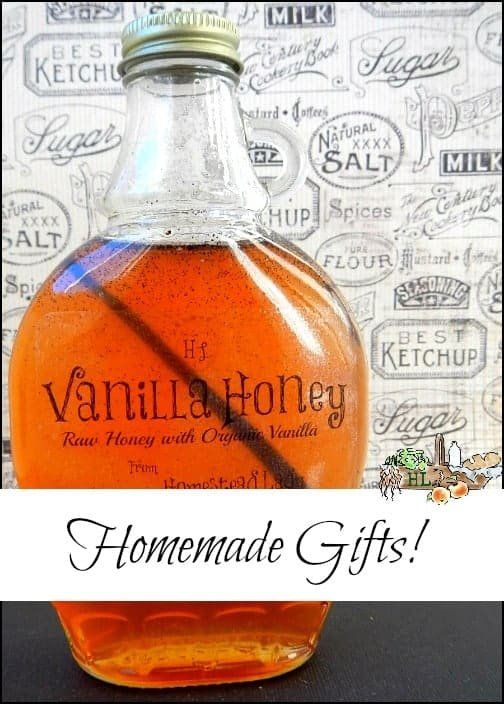Homemade Vanilla Honey l Perfect for gift giving at the holidays or any day l Homestead Lady (.com)