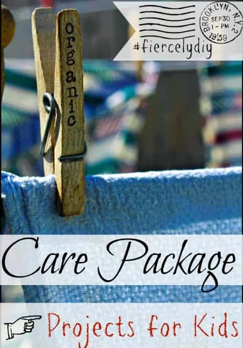 Kids Care Package Projects l Gues post from Homespun Seasonal Living l #fiercelydiy
