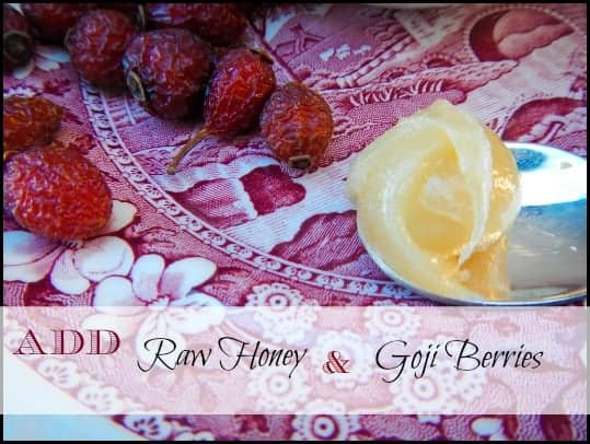 Rosehip Tea l Vitamin C with raw honey and Goji berries l Homestead Lady (.com)