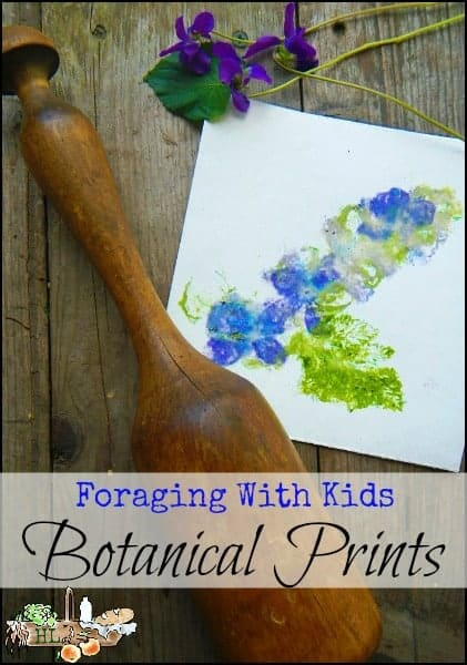 Foraging with Kids l Botanical Prints l Smashed Flowers Become Art l Homestead Lady.com