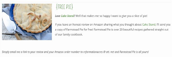 Cake Stand Farmstead Pie for free
