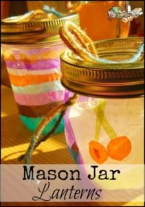 Mason Jar Lanterns l A simple, upcycled family craft project for holidays or giving as gifts l Homestead Lady.com