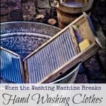 When the Washing Machine Breaks: Hand Washing Clothes