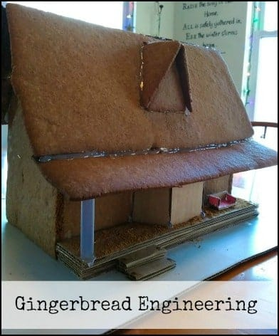 Healthy Gingerbread House l Use hot glue or frosting to put together the house a day in advance l Homestead Lady.com