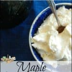 Easy Homemade Cheese: Maple Yogurt Cheese