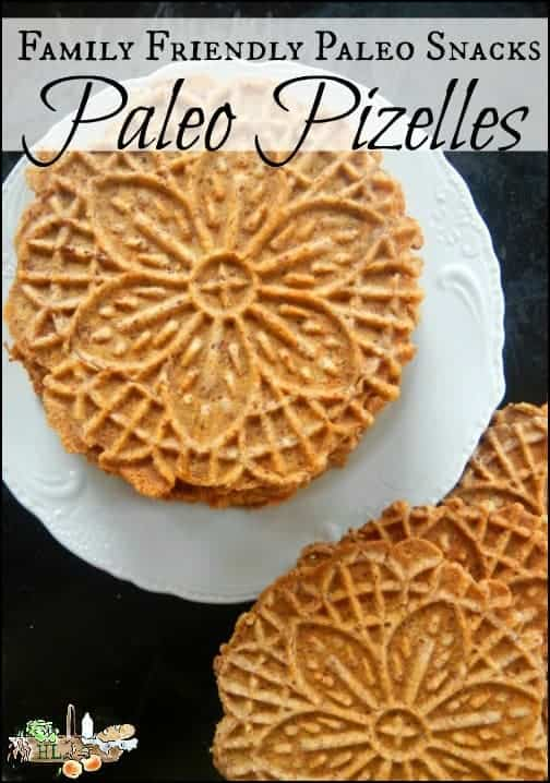 Family Friendly Paleo Snacks l Plus a Paleo Pizzelle Recipe l Homestead Lady.com