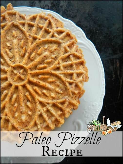 Paleo Pizzelle Recipe l Paleo Snacks for Kids l Homestead Lady.com