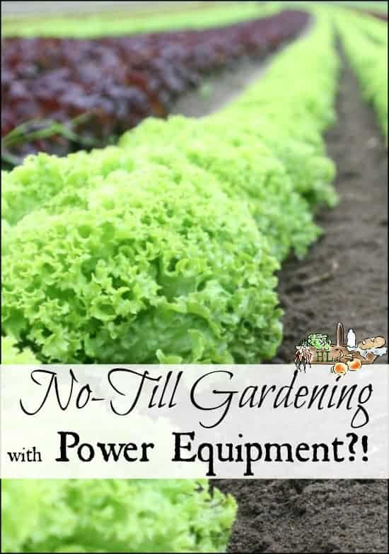 No-Till Gardening with Power Equipment l Save time and your back with these carefully selected no-till garden tools l Homestead Lady.com