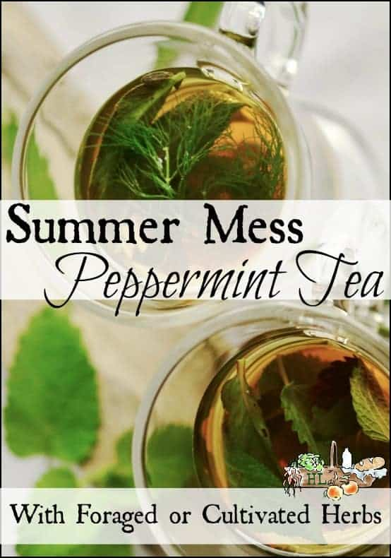 Summer Mess Peppermint Tea l With foraged, wildcrafted, garden grown, cultivated herbal combination l Homestead Lady.com