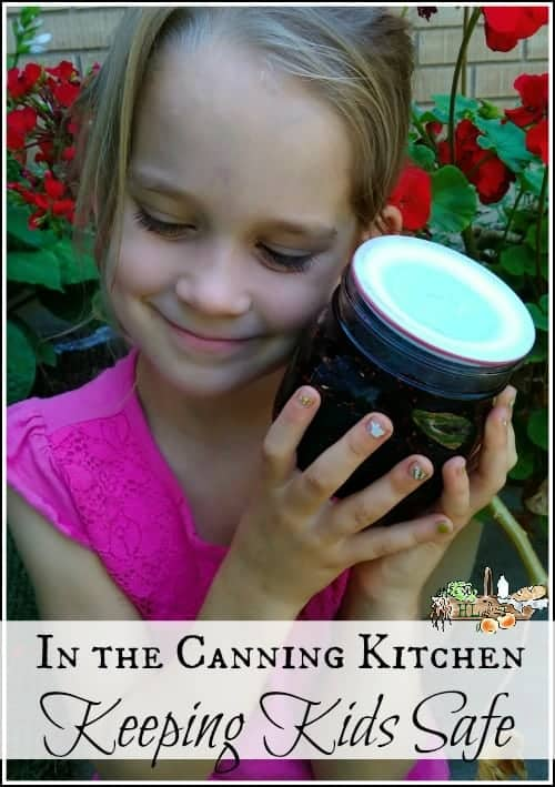 Keeping Kids Safe in the Canning Kitchen l 3 Canning Safety Tips for Kids l Homestead Lady.com