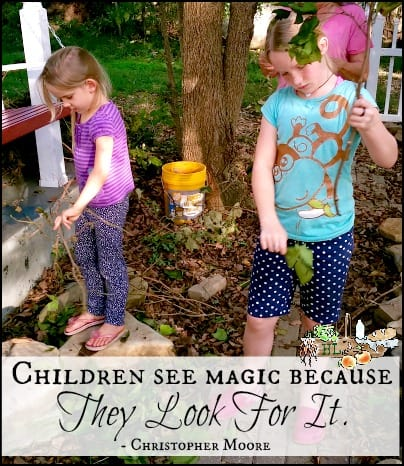 Upcycled Gifts from the Garden l Forage with Kids l Children see magic l Homestead Lady.com