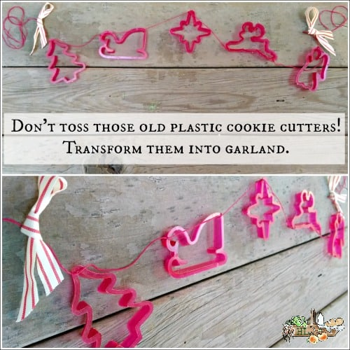 3 Cookie Cutter Crafts l Upcycle your plastic cookie cutters into a holiday garland l Homestead Lady.com