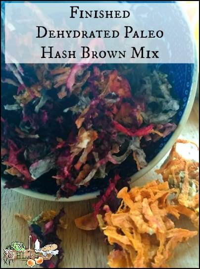 Dehydrated Paleo Hash Brown Mix l Finished product l Homestead Lady.com
