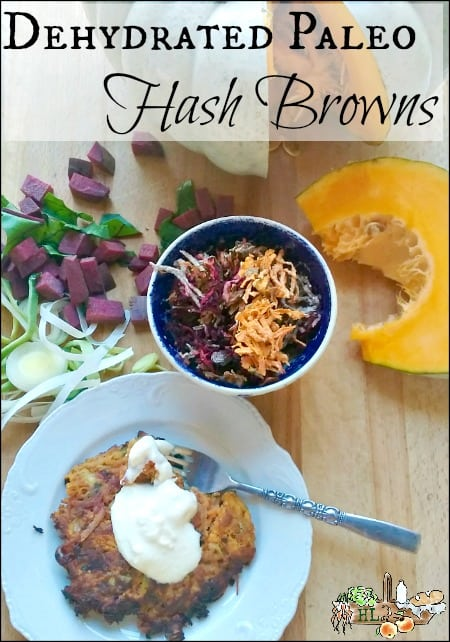 Dehydrated Paleo Hash Browns Recipe l Make perfect hash browns each time l Homestead Lady.com