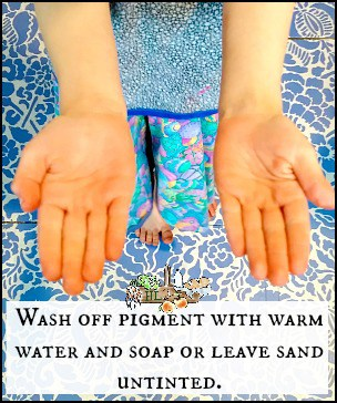 Homemade Natural Moon Sand Recipe l Wash oxide pigment with soap and water l Homestead Lady.com