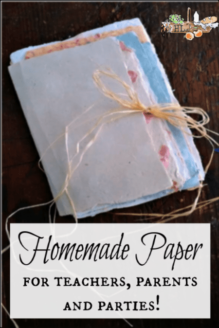Homemade Paper l Step by step instructions for teachers, students, parents and parties l Homestead Lady.com