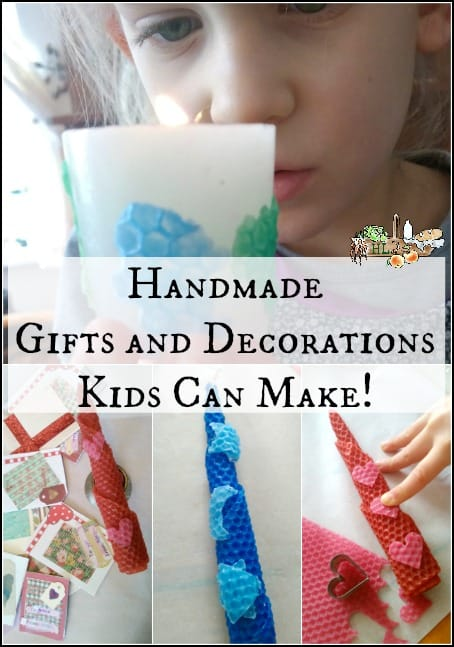 Decorate Candles for Handmade Gifts and Decorations Kids Can Make l Homestead Lady.com