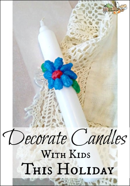 Decorate Candles with Kids this Holiday l DIY gifts or decorations for the holiday l Step by step instructions l Homestead Lady.com